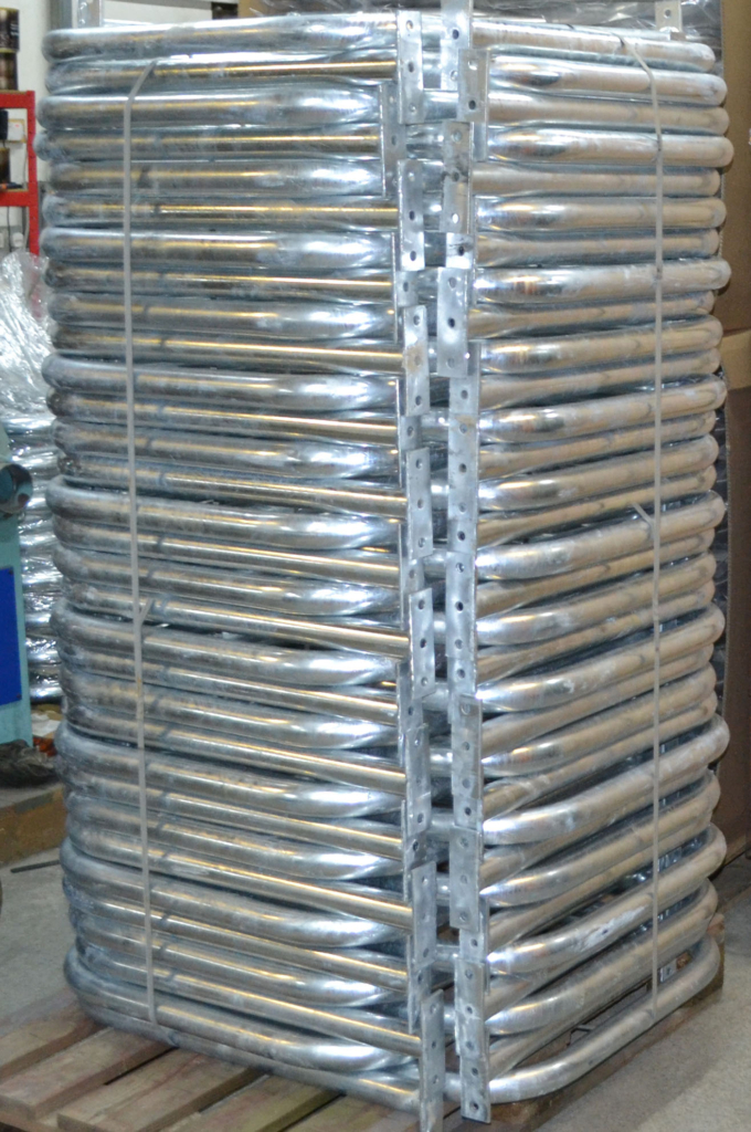 Galvanised cycle stands