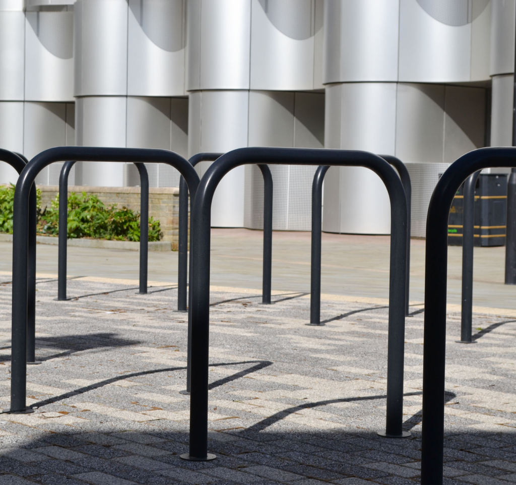 Rilsan® nylon cycle stands specified for the new life science campus development at Bristol University.